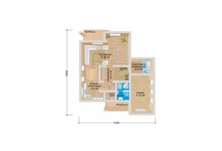 Проект каркасного дома РИВЕР