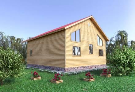 проект каркасного дома 14.9 х 12.8