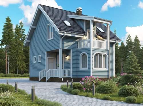 Проект дома из СИП панелей САНИНО