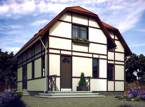 Проект дома из СИП панелей РАПСОДИЯ