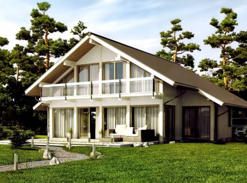 Проект СИП дома ЭДЕЛЬВЕЙС-2