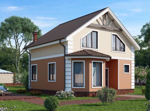 Проект дома из СИП панелей МЕРЛИН