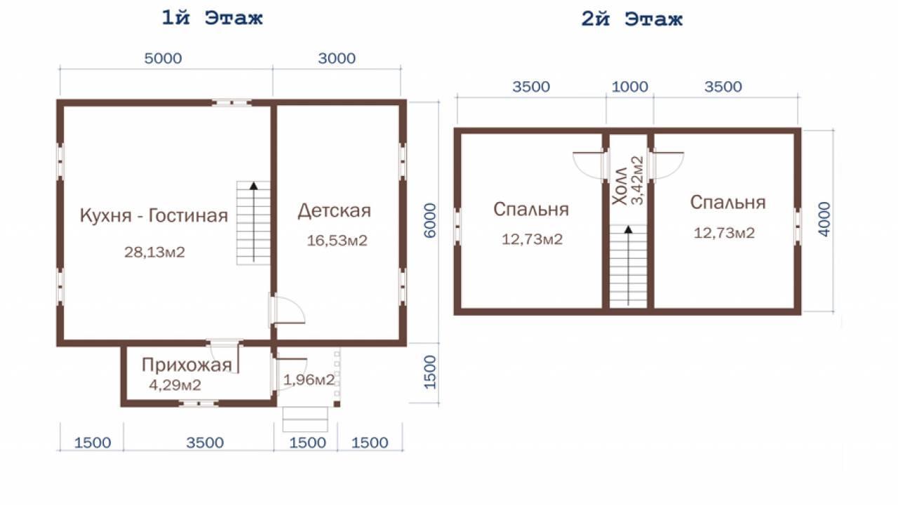 Дачный дом 8х7,5