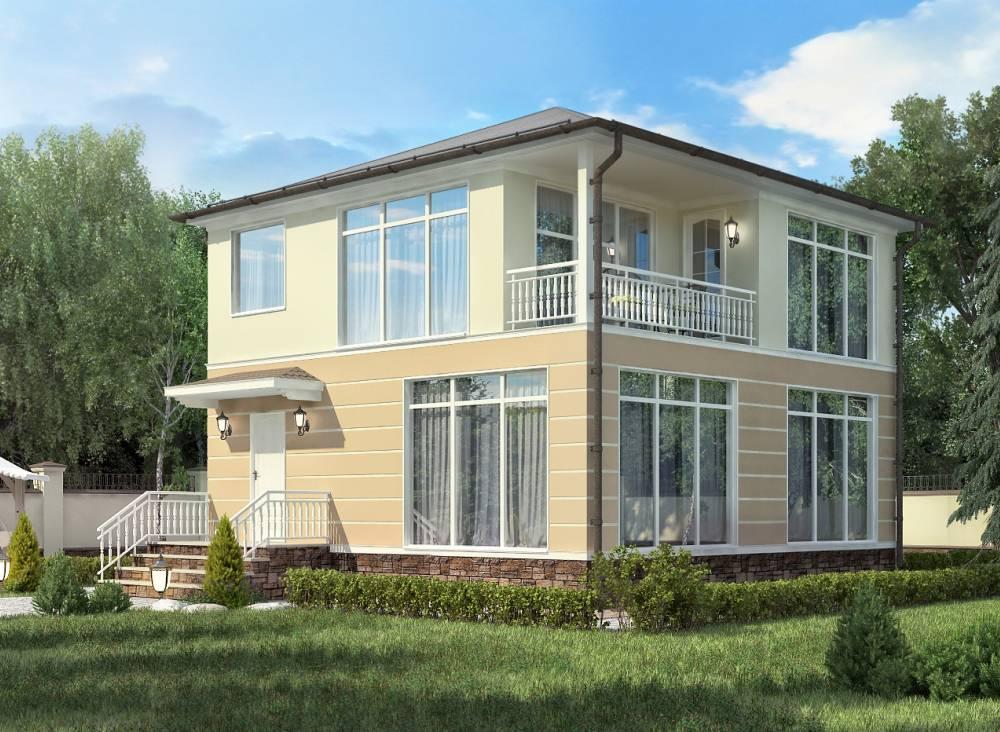 Проект каркасного дома КВАДРО