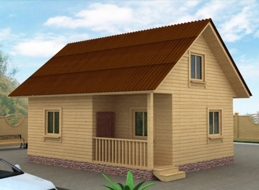 Дачный дом 7,5 х 6