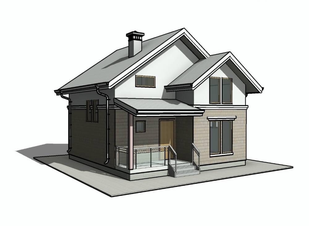Проект каркасного дома 7.5 х 8