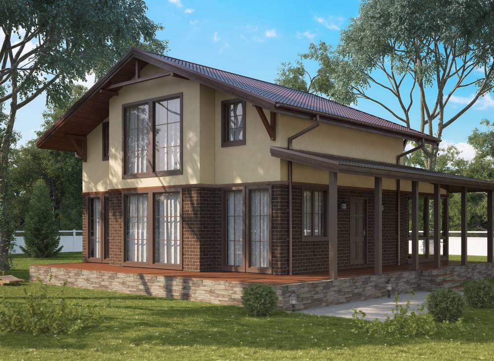 Проект каркасного дома ОЗЕРКИ