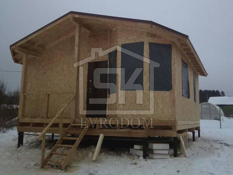Строительство дома из СИП панелей по индивидуальному проекту в п. Первомайское Ленинградской области