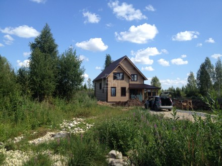 Строительство дома из СИП панелей по проекту АНТЕЙ (Гатчинский р-н Лен. обл.)