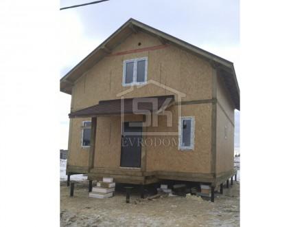 Строительство дома из СИП панелей по типовому проекту Клио во Всеволожском районе  д.Кискелево.]