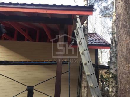 """Строительство гаража в ДНП """" ДУБКИ"""" ленинградской области."""