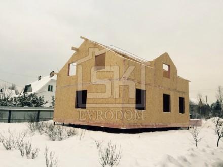 Монтаж СИП дома по индивидуальному проекту в Санкт-Петербурге